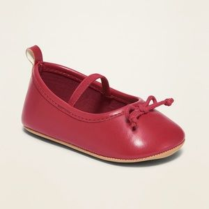 Old Navy Red Faux-Leather Ballet Flats for Baby